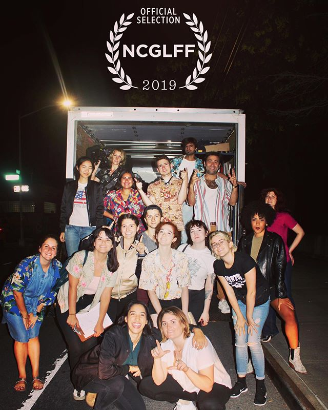 Pride month may be over, but we're proud as hell to announce #LadyLiberty will be screening at the 2019 North Carolina Gay & Lesbian Film Festival this August. Missing this epic cast & crew. @carolinatheatredurham #NCGLFF #pride #BTS