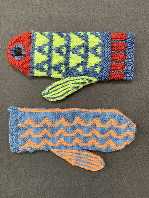 Cheerful Fishkins Sample Knit