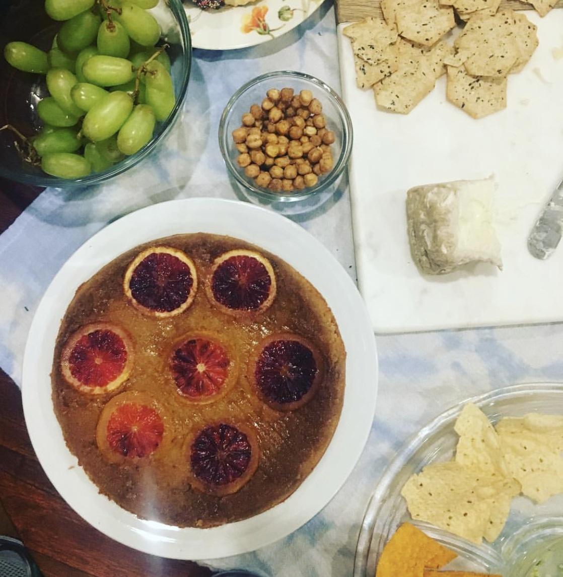 Blood Orange Almond Ricotta Cake