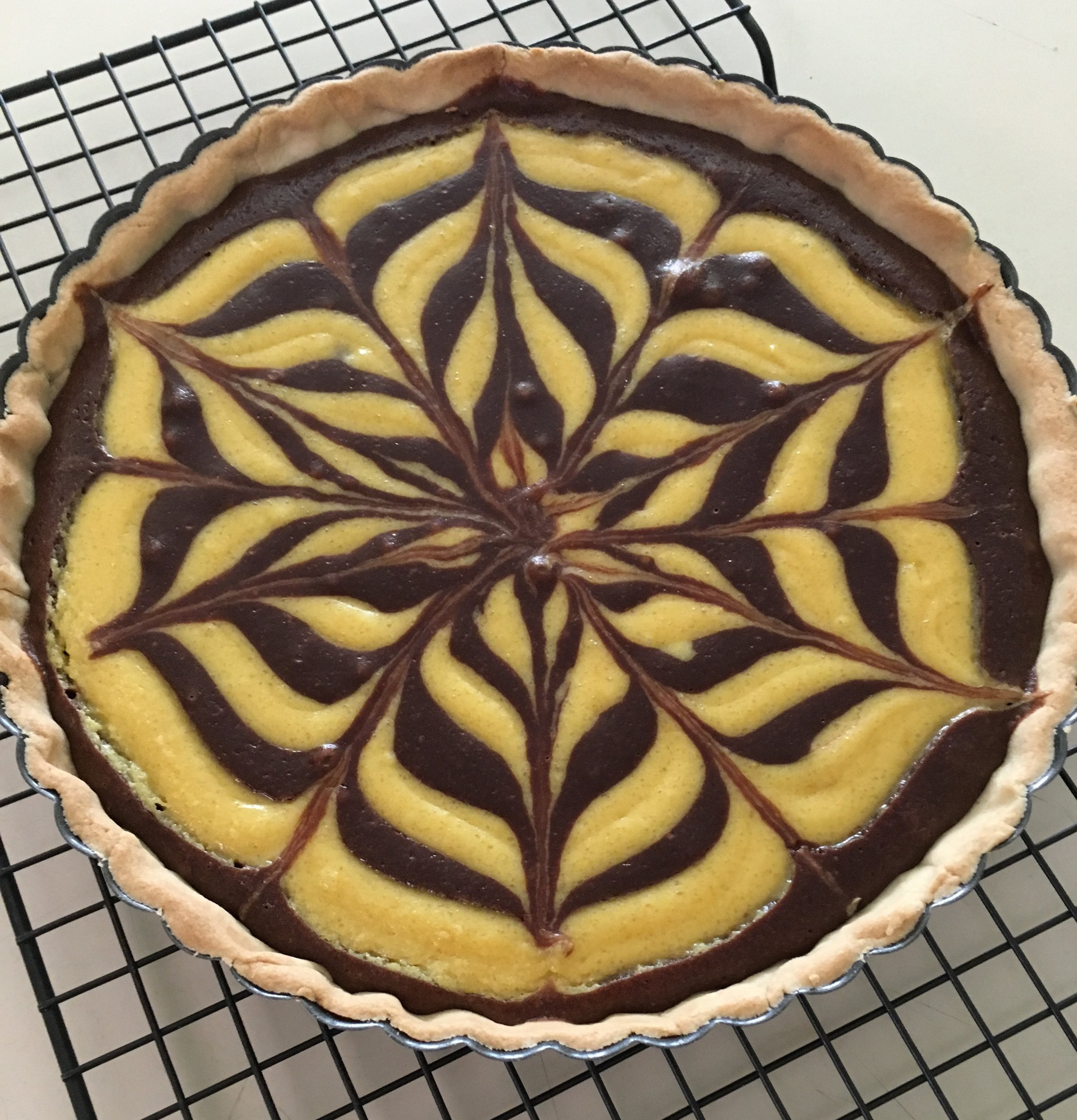 Chocolate Orange Custard Tart