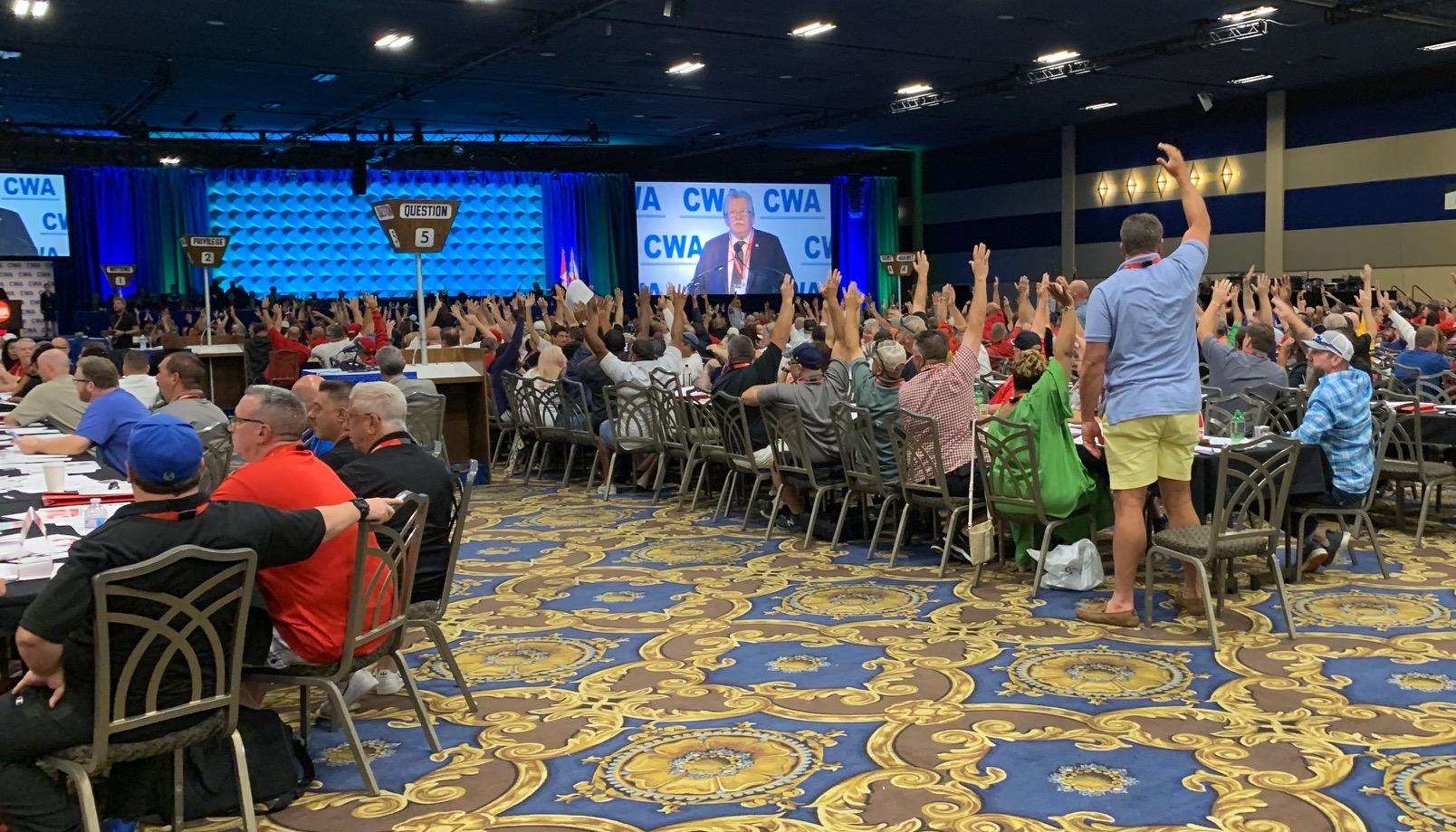 CWA delegates vote in favor of postponing sector dissolution indefinitely.