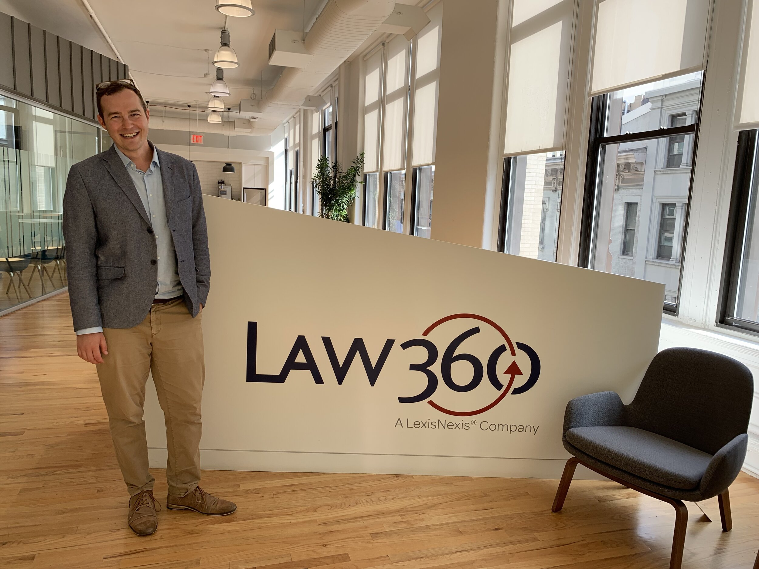 Jon visited the Law360 offices in Manhattan on Sept. 10.