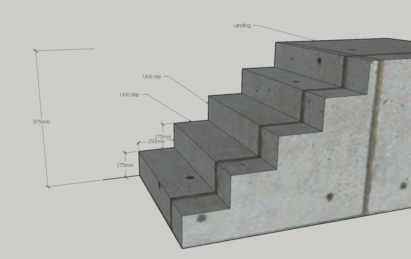 Staircase design - A stair has be made in a specific way to be comfortable to walk on. and best way to make a good stair is to have the Steps even same unit step size and same unit rise size. So when u start figure out how to make it even you take the total height from where the stair start to the top landing . and Divide it until u get a round number around 16- 18 Cm or 6-7 Inches because, that is the number humans fell as a comfortable to walk in.