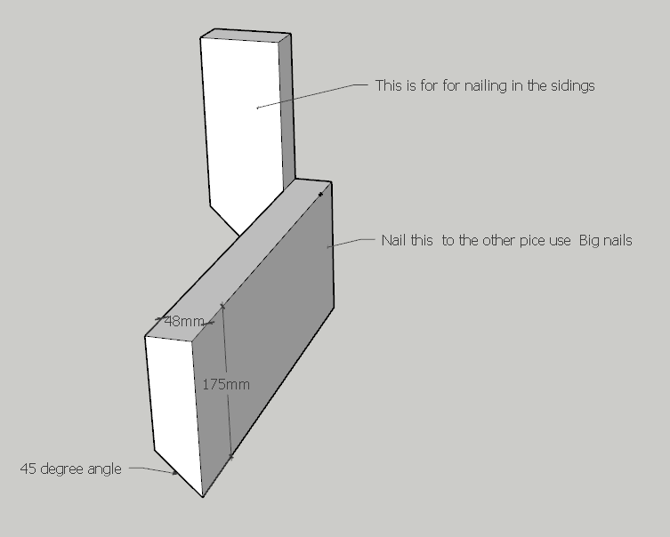 Step - How to make Form for the unit step cut to high with the angle, then cut to the length you need for your stair.