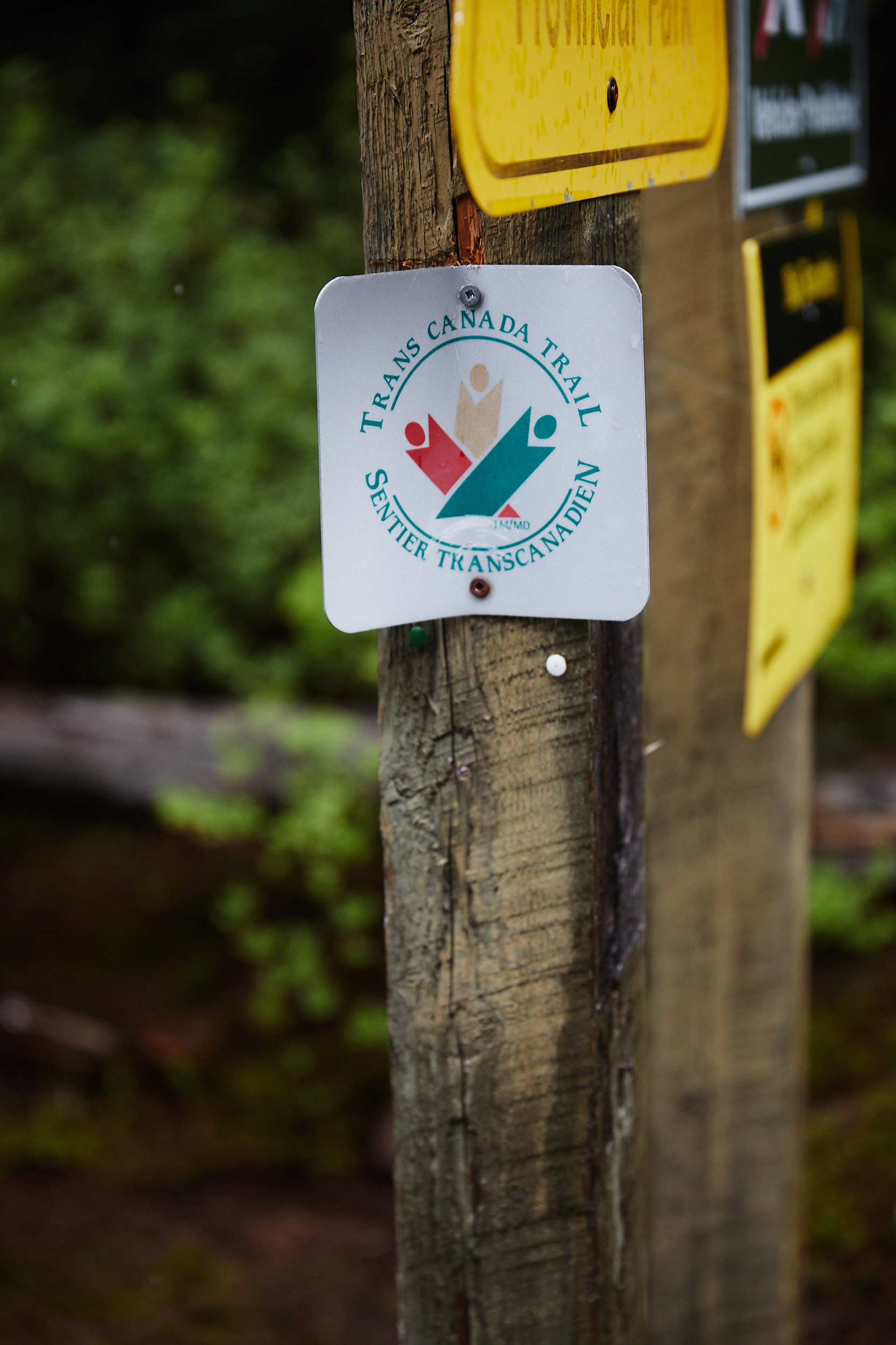 Our first Trans Canada Trail marker!