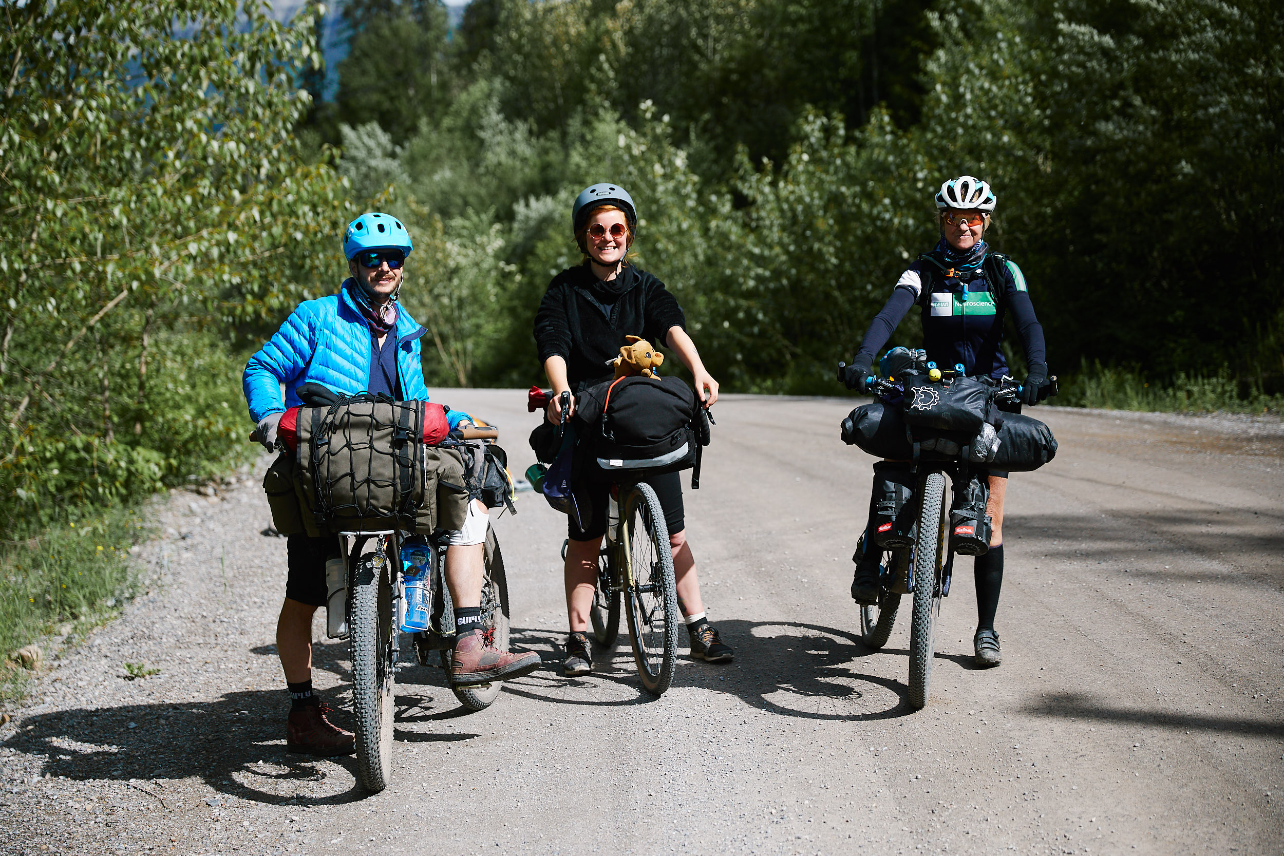 The next morning we ran into one of the riders doing the entire 4400km of the Great Divide Trail as part of the 'Tour Divide' race. Her name is Grace and she finished on July 19th!