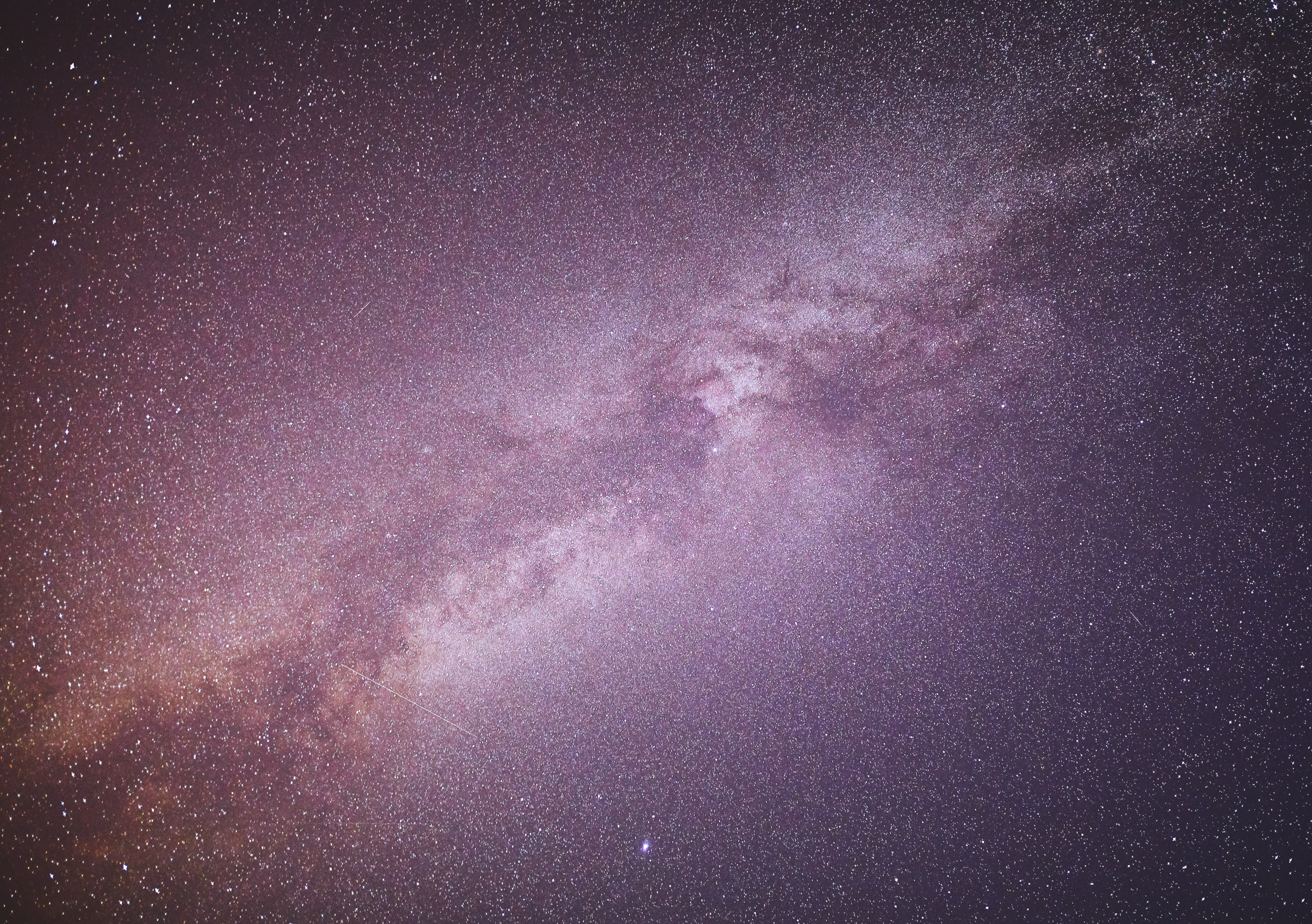 The Milky Way was directly above us later in the night.