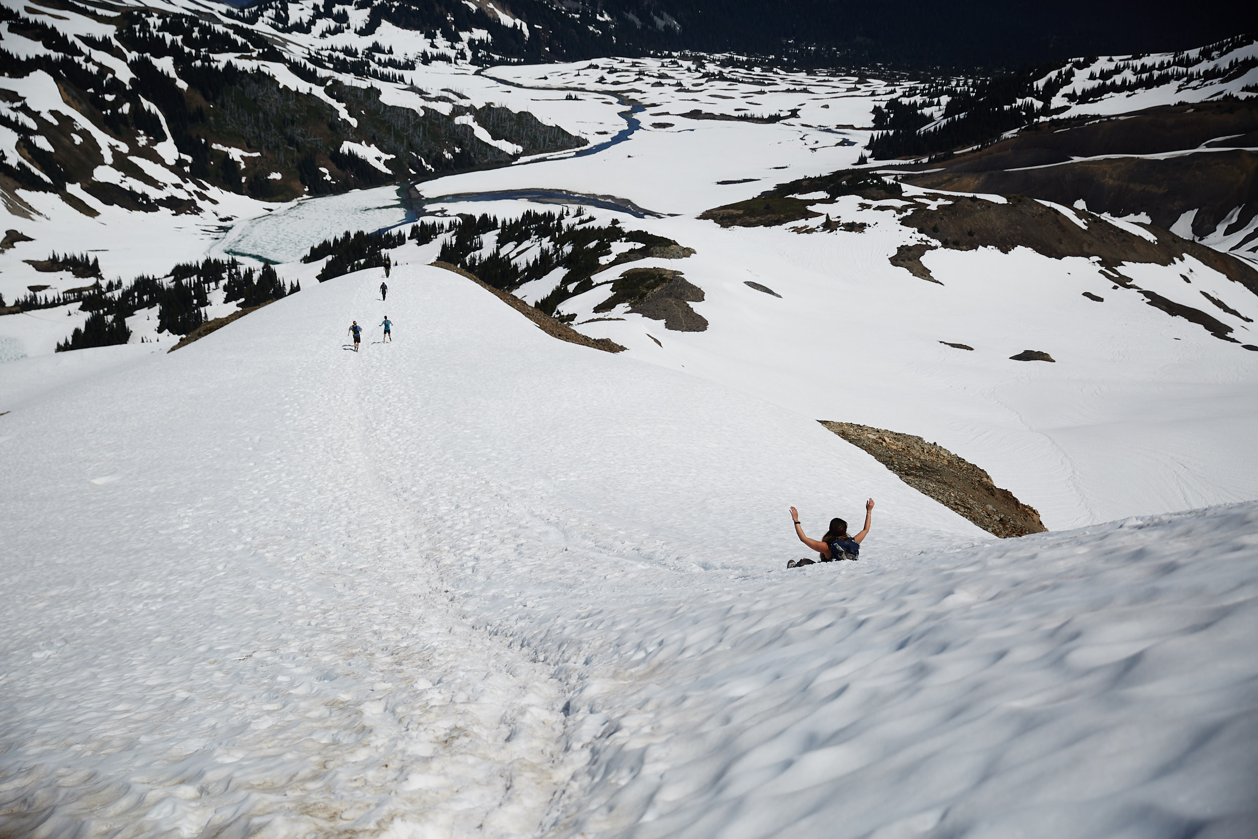 The snow made for a super fast and fun descent!