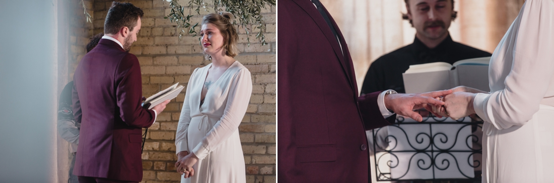 The ceremony photos are amazing, I think our most favorite photo is the one where I'm (Maggie) looking at Drew on the altar with so much emotion.