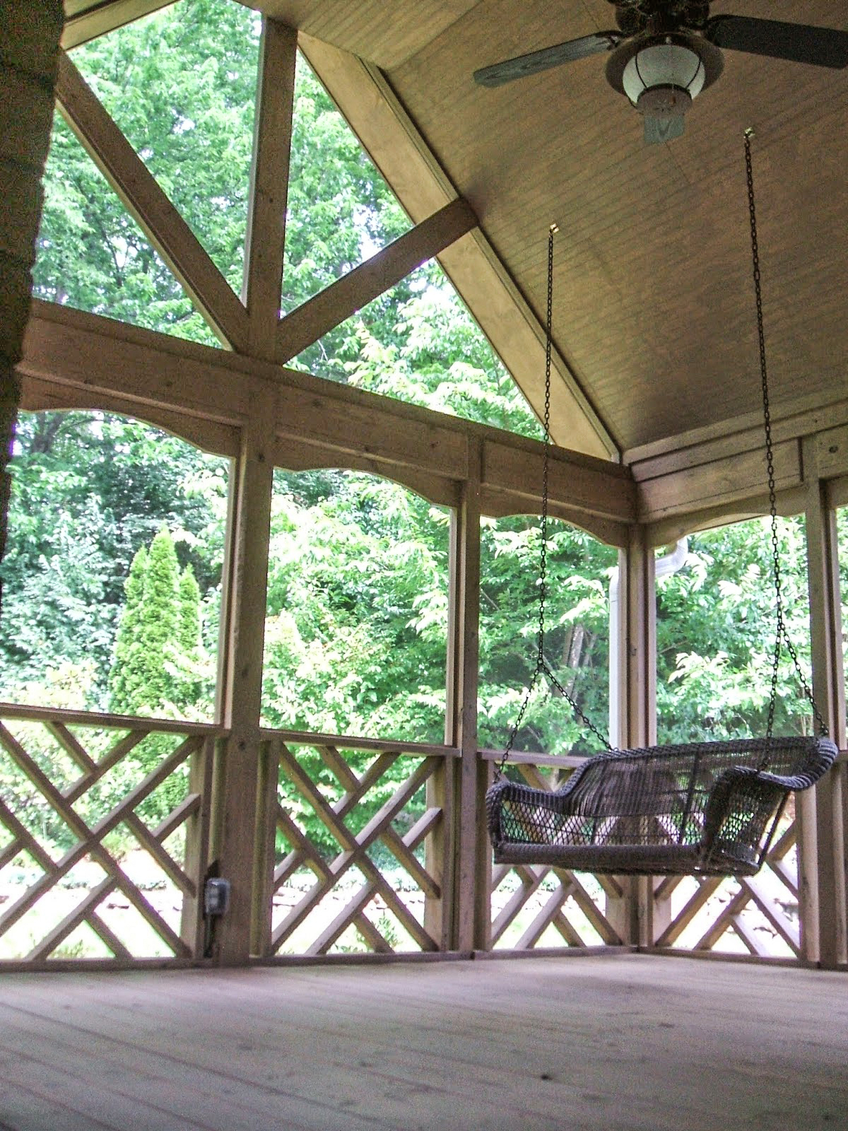 The Johnson's Screened Porch - After