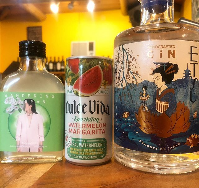 Some fun new items in our Wine & Spirits store! #gin #cocktails #gardencenter #winestore #keene #adk