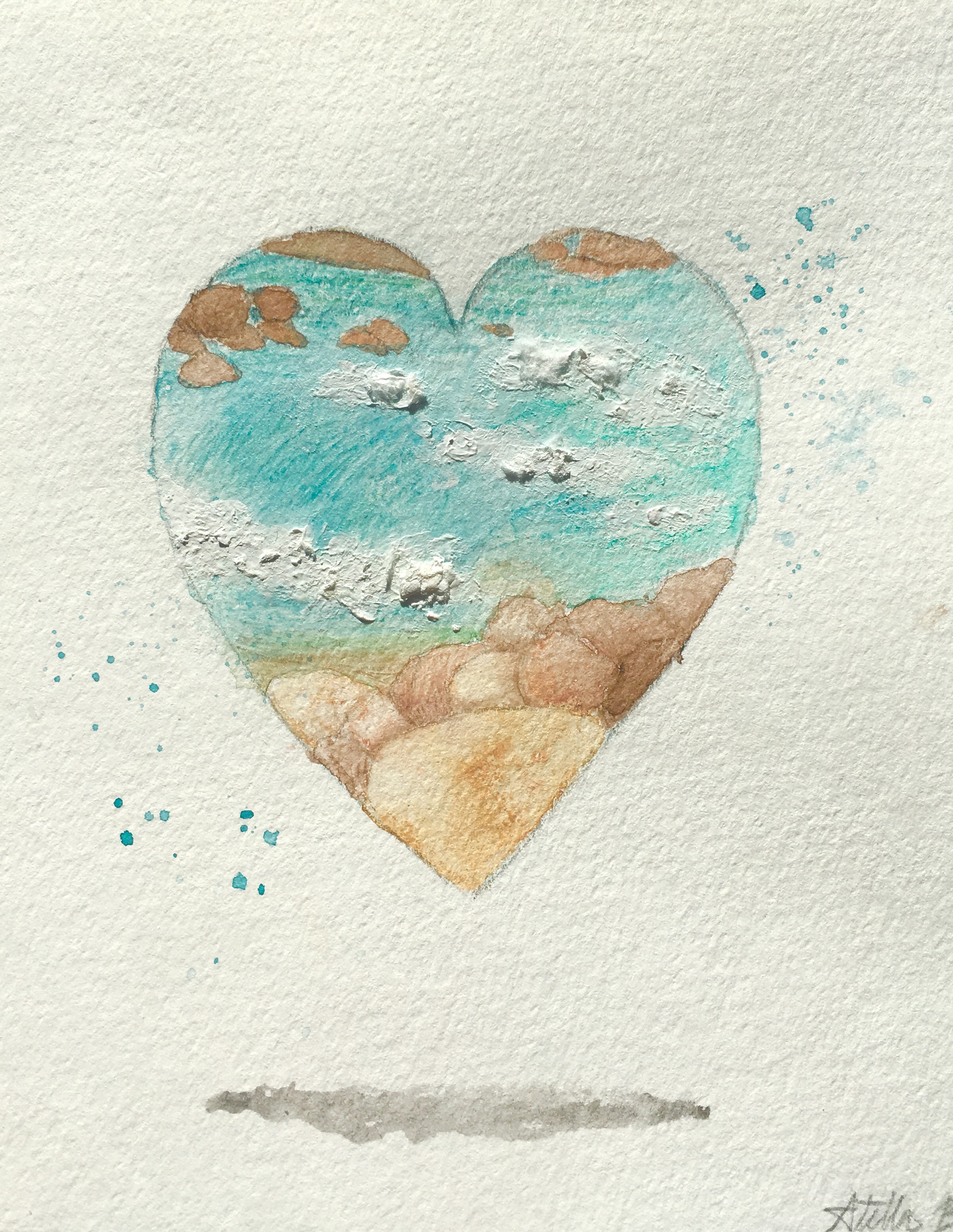 """""""Cerulean"""" by one of my daughters, Stella — my family is a huge part of why I do this work."""