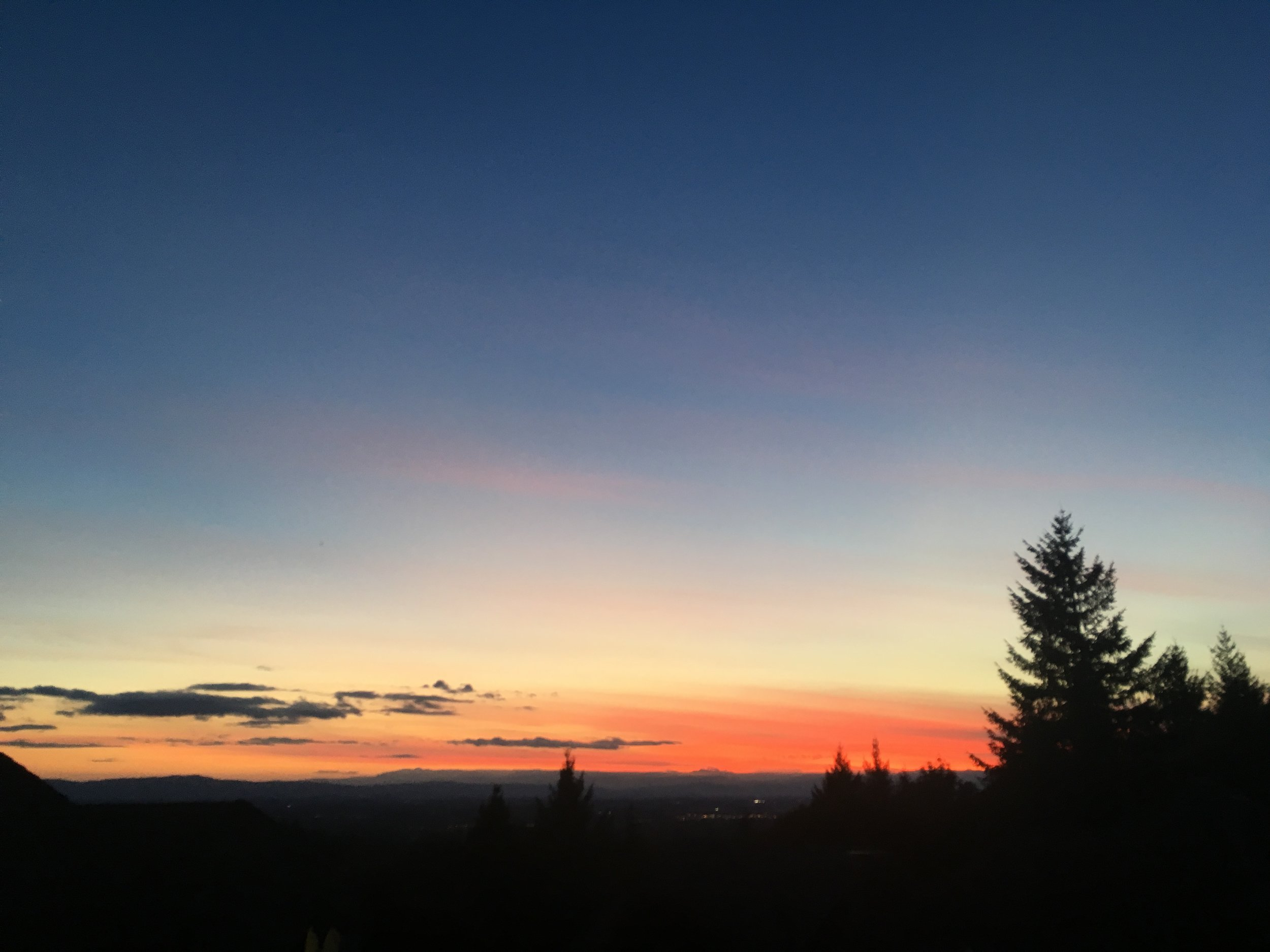 Photo of a sunset that inspires part of this blog's logo.