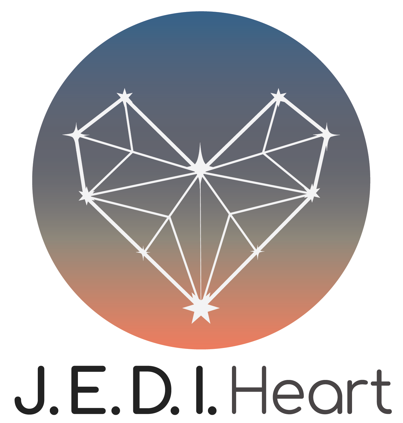 The J.E.D.I. Heart logo in name and design connects to the purpose for this blog.
