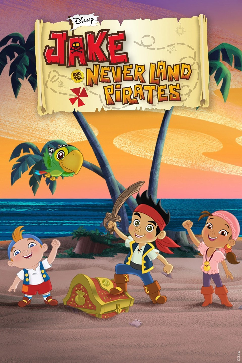 Jake and the Neverland Pirates, 2015 - Created by DisneyRole: Lead 3D Generalist (Season 4)Modelled, textured, and did minor rigging of props in painterly style with toon outlines. Optimized toon outline settings for quality.Programs used: Maya, PaintFX, Mudbox