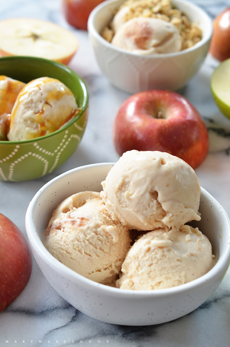 Apple Cider Ice Cream | Mary Makes Good for Promised Land Milk   Styling and photography by Mary Helen Leonard