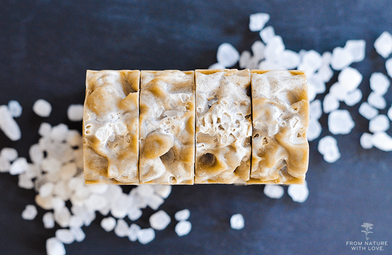 Dead Sea Salt Soap | The Natural Beauty Workshop   Styling and photography by Mary Helen Leonard