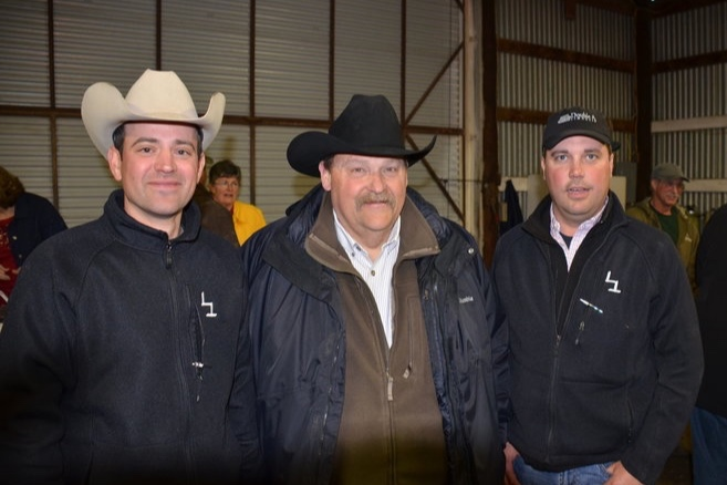 Double A Land & Cattle customers at the L7 Bar annual production sale, held each spring at the ranch