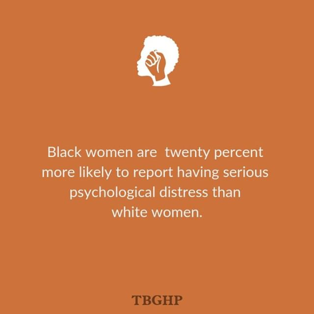"Depression is most commonly understood to be caused by an imbalance of neurochemicals, like serotonin and dopamine, but in addition to its biochemical roots, depression is also a gendered and racialized symptom of oppression – since racial minority status and poverty are associated with higher levels of depression and psychological distress. ⠀⠀⠀⠀⠀⠀⠀⠀⠀ ⠀⠀⠀⠀⠀⠀⠀⠀⠀ I'm sure you didn't need us to tell you that oppression and depression are intimately linked, or that microaggressions and macroaggressions take a toll on our emotional well-being, but sometimes it helps to know that what you're feeling is real and that you're not alone. ⠀⠀⠀⠀⠀⠀⠀⠀⠀ ⠀⠀⠀⠀⠀⠀⠀⠀⠀ For a more indepth look at depression as it relates to the ""strong black woman"" stereotype and oppression, click the link in our profile. ⠀⠀⠀⠀⠀⠀⠀⠀⠀ ⠀⠀⠀⠀⠀⠀⠀⠀⠀ We see you, sis. And you're not alone! ⠀⠀⠀⠀⠀⠀⠀⠀⠀ ⠀⠀⠀⠀⠀⠀⠀⠀⠀ ▫️http://bit.ly/2Y7KfKM"