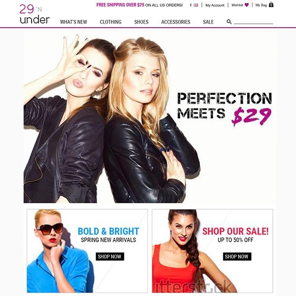 29 N Under  | ecommerce website refresh