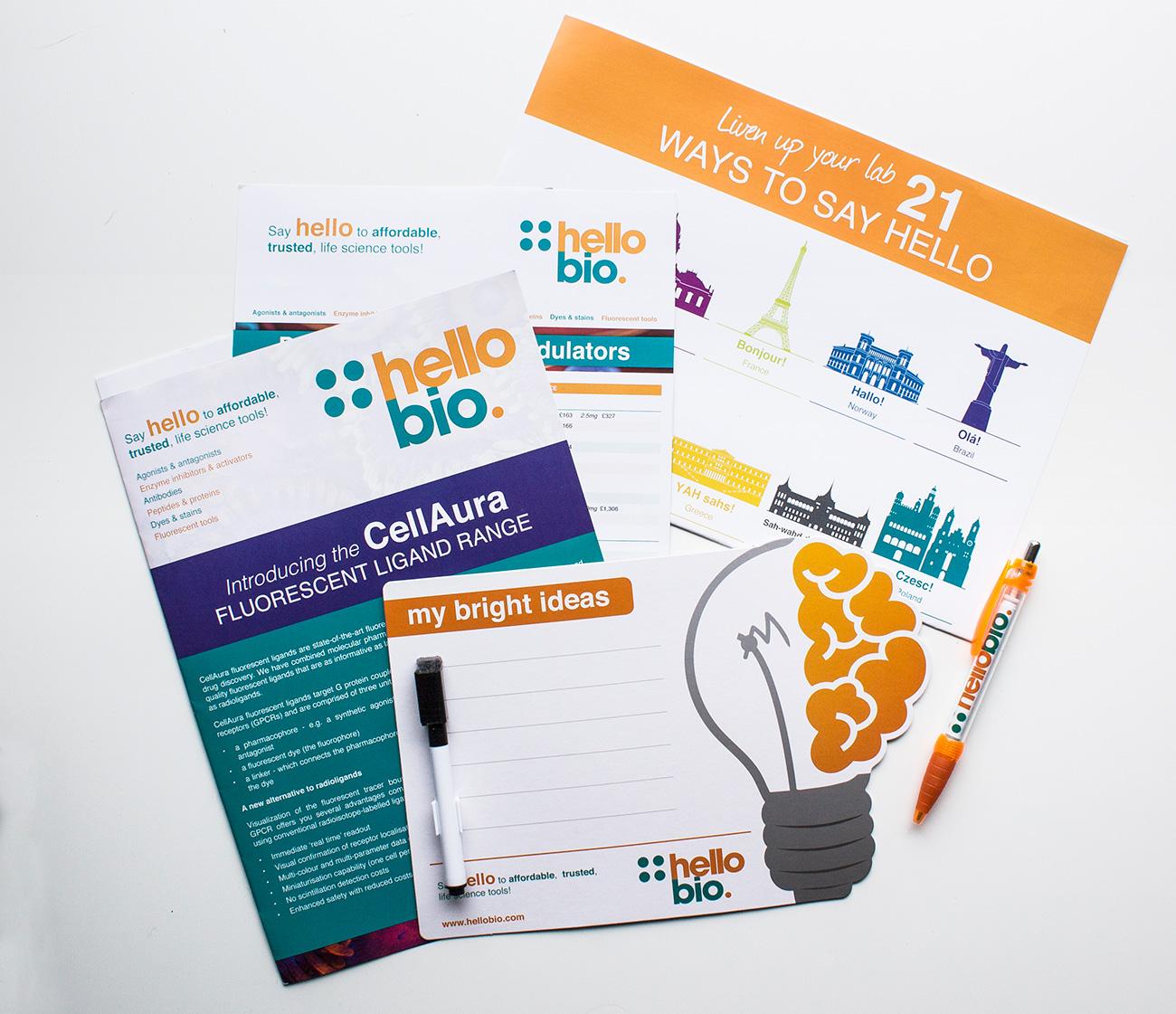 Hello Bio | print design