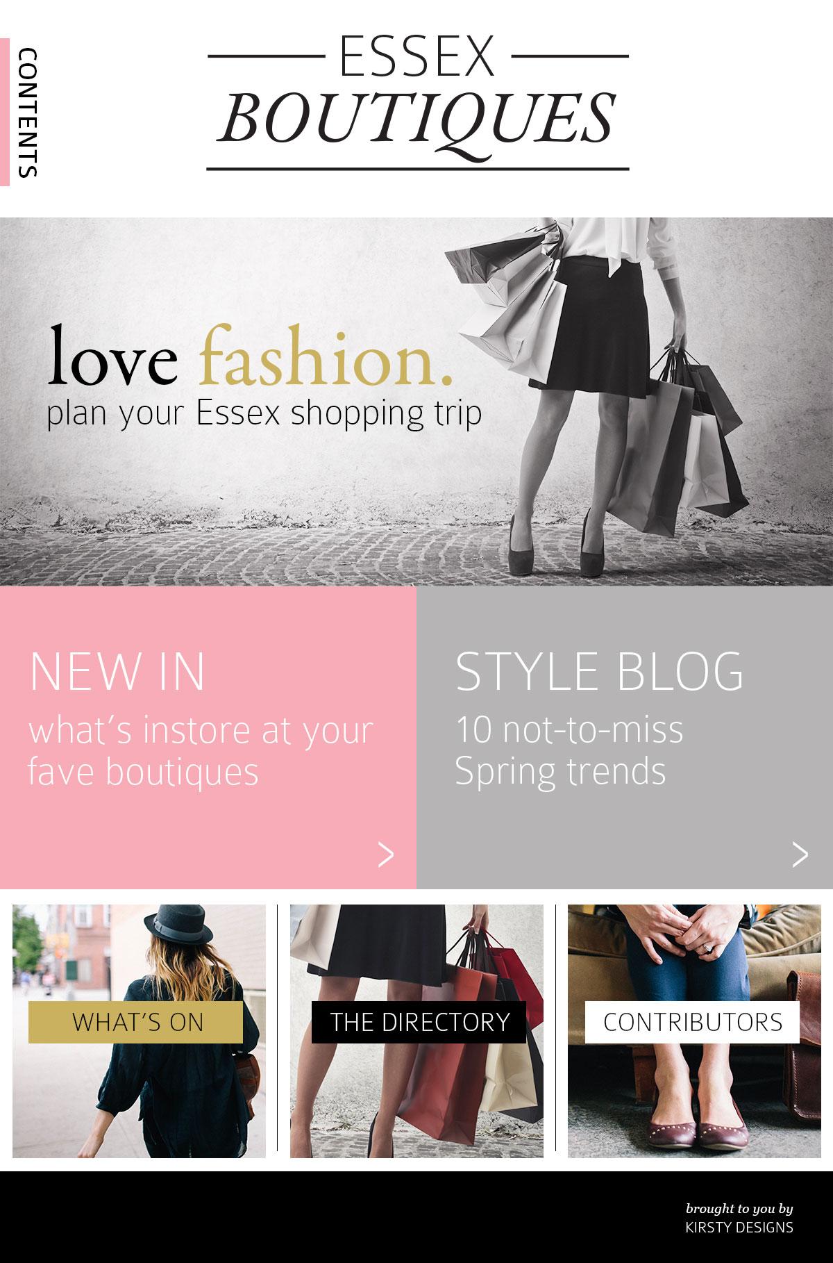 Essex Boutiques | website design