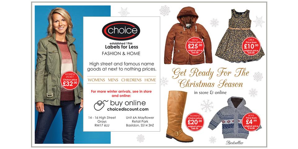 Choice Discount | print design