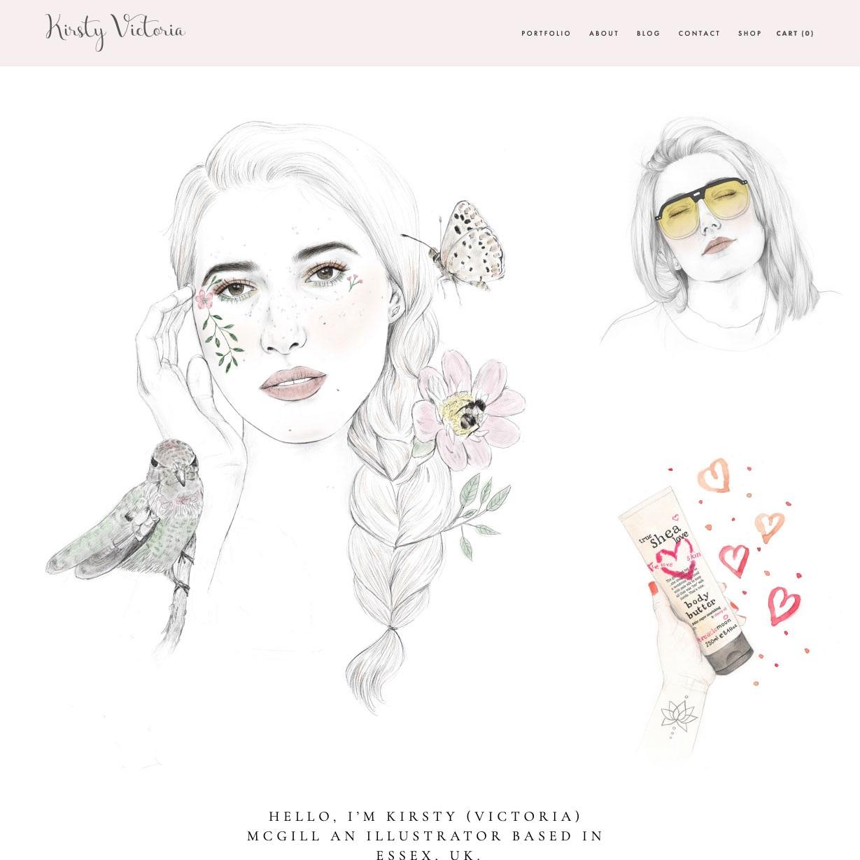 Kirsty Victoria | branding and website
