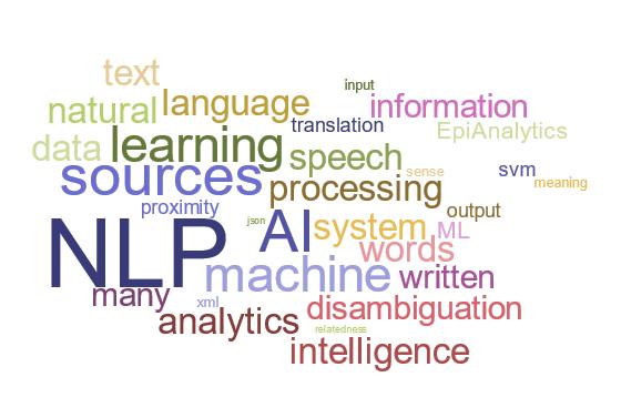 EpiAnalytics NLP Word Cloud