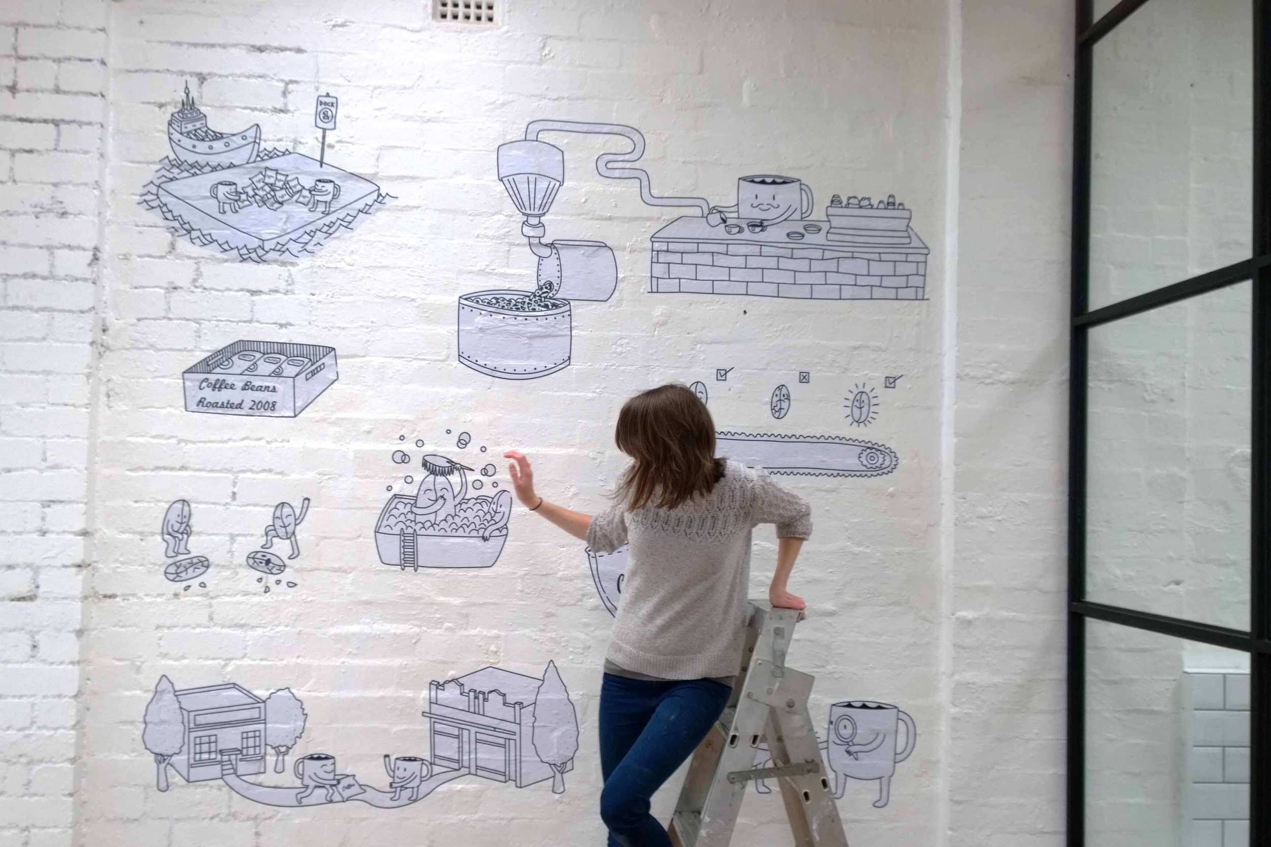 padre coffee office mural, Brunswick East