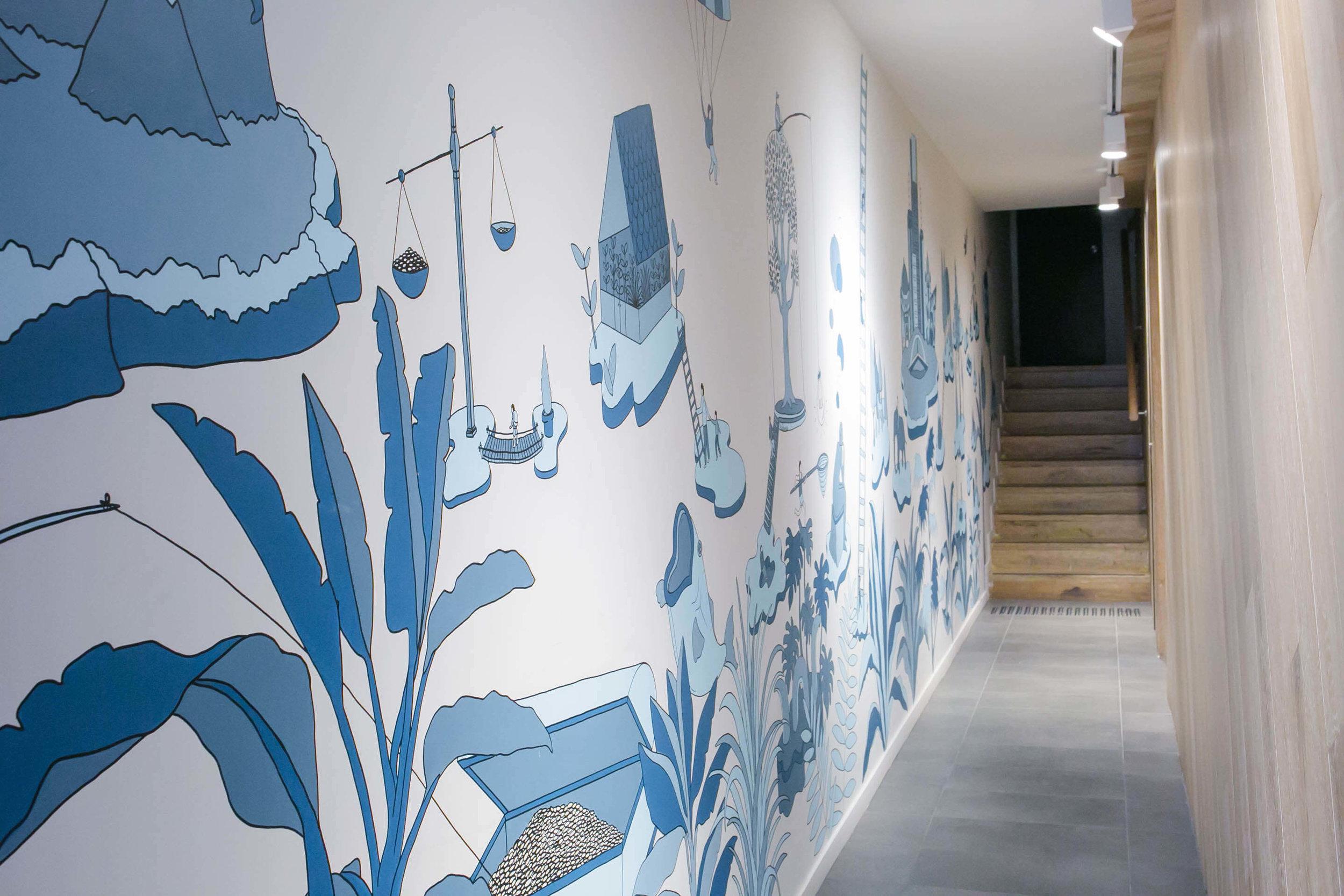 Kalitek Constructions / easey street co-working space mural, Collingwood