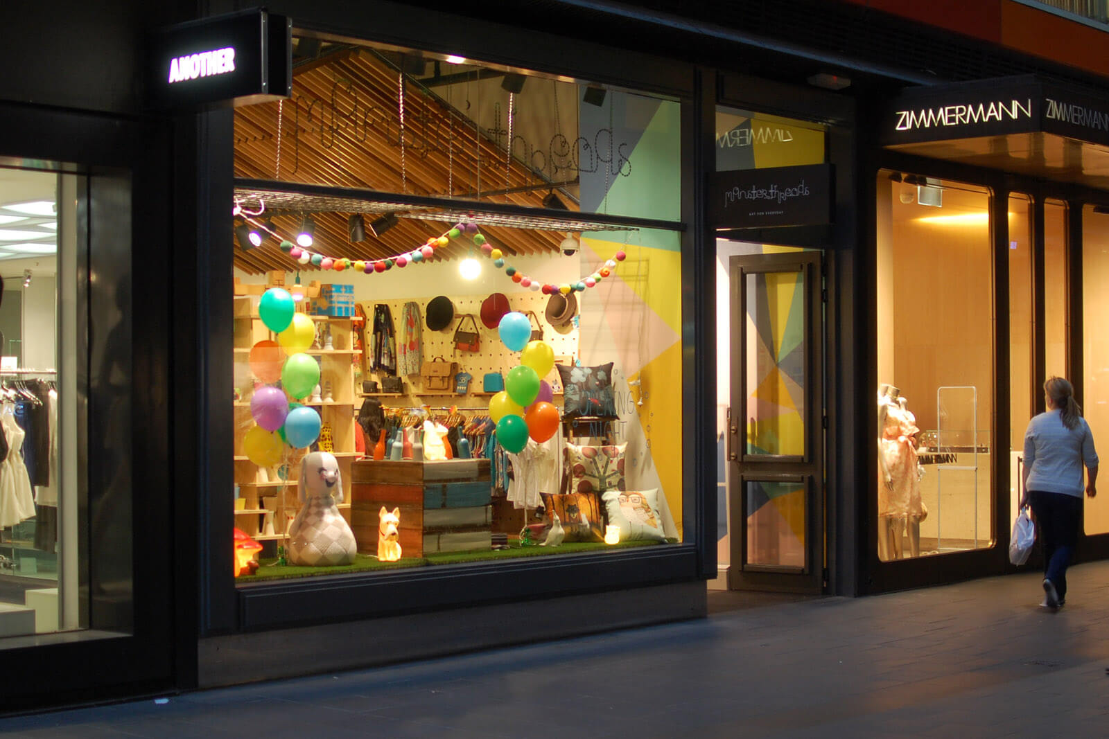 monsterthreads qv store mural, melbourne