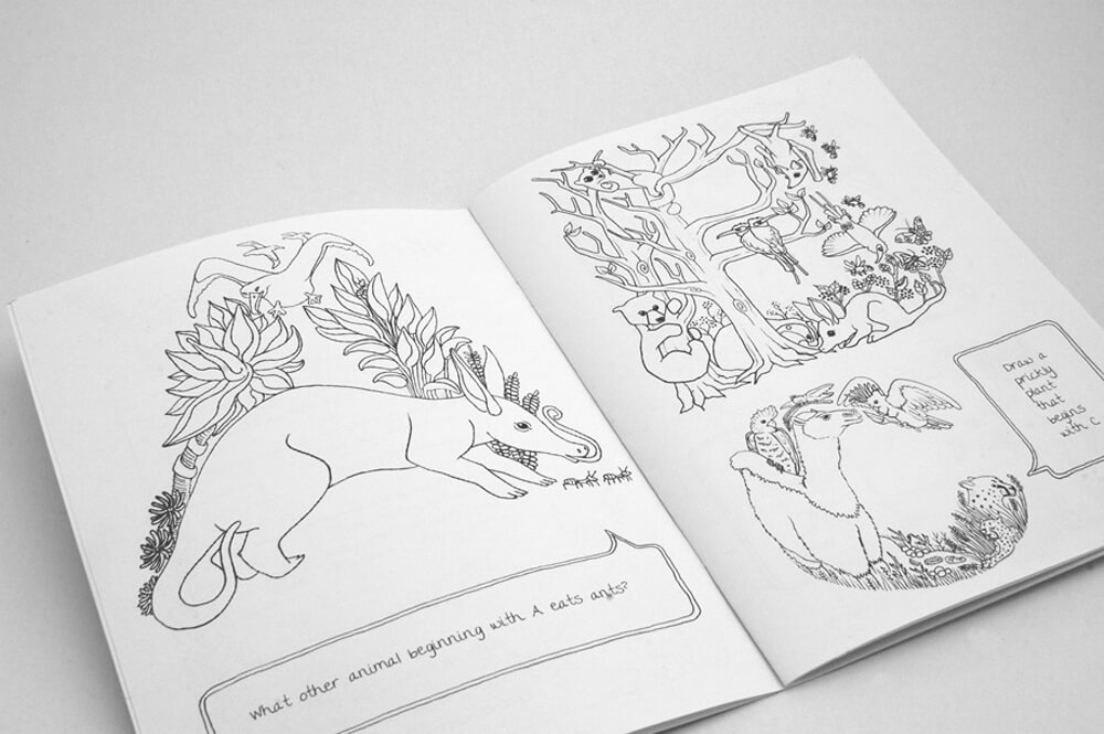 lalaland abc colouring book