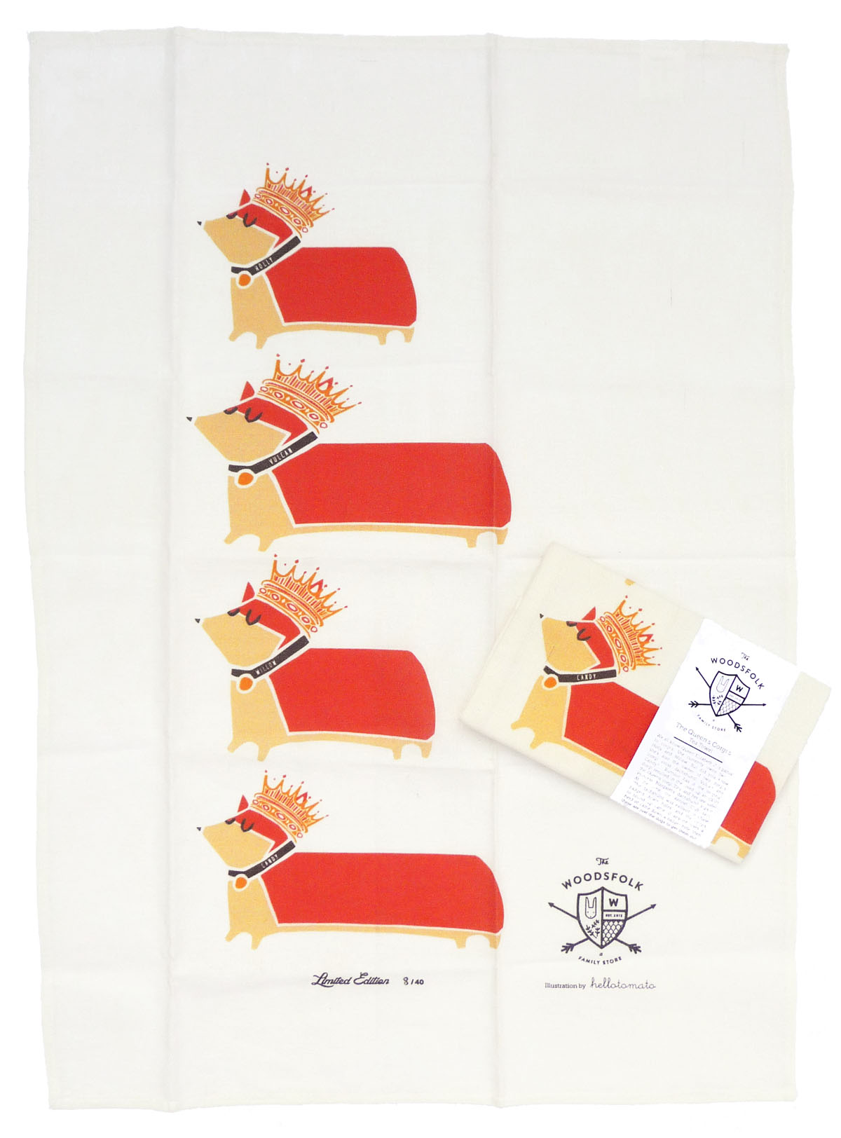 the woodfolk limited edition teat towel design