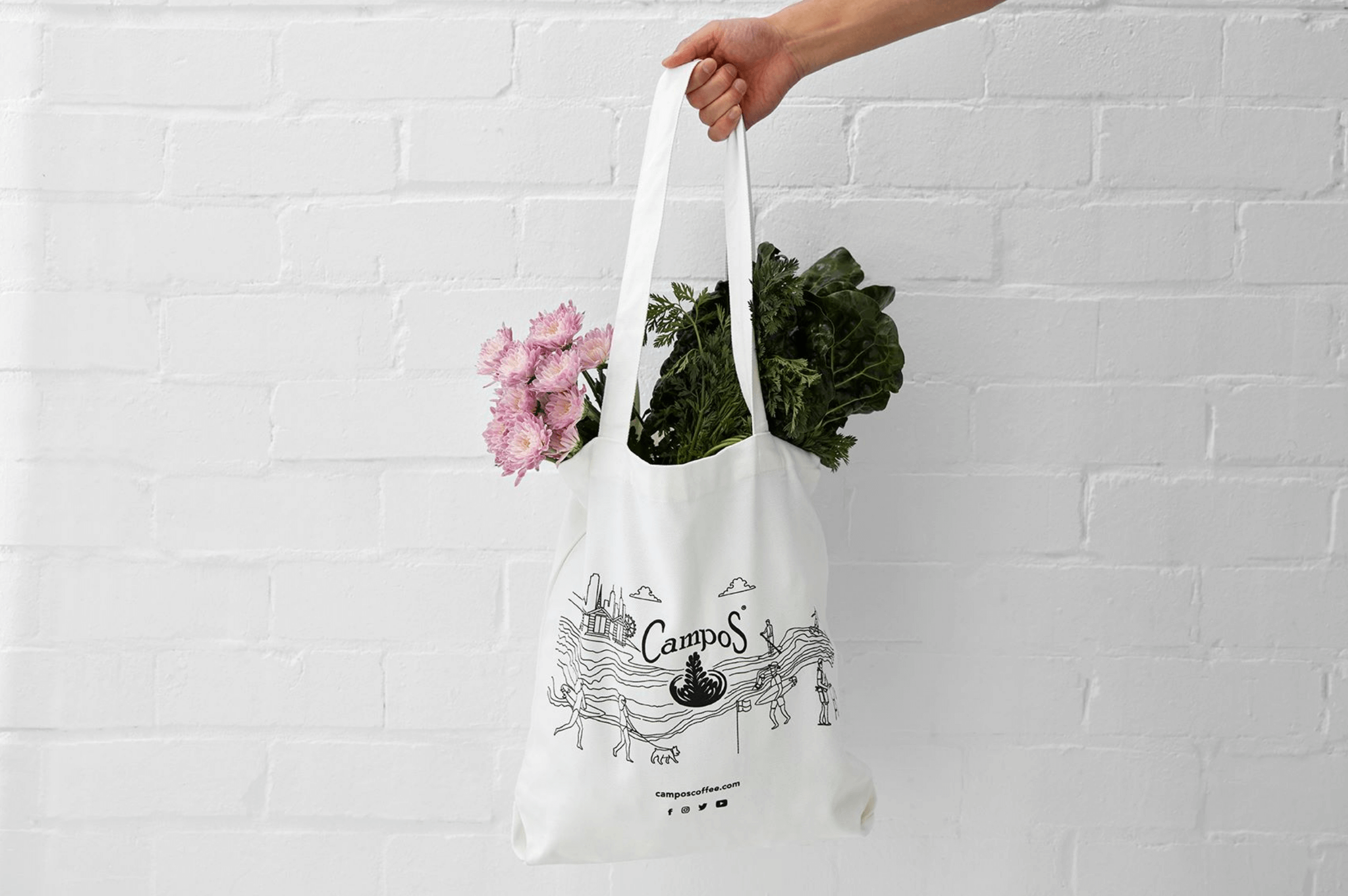Campos coffee tote bag sydney & Melbourne illustrated design