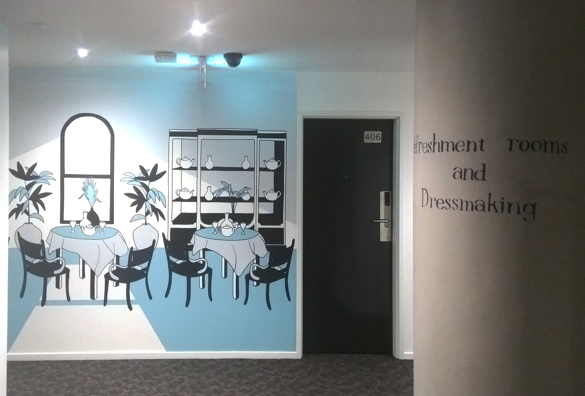 mutual stores apartment wall murals, melbourne