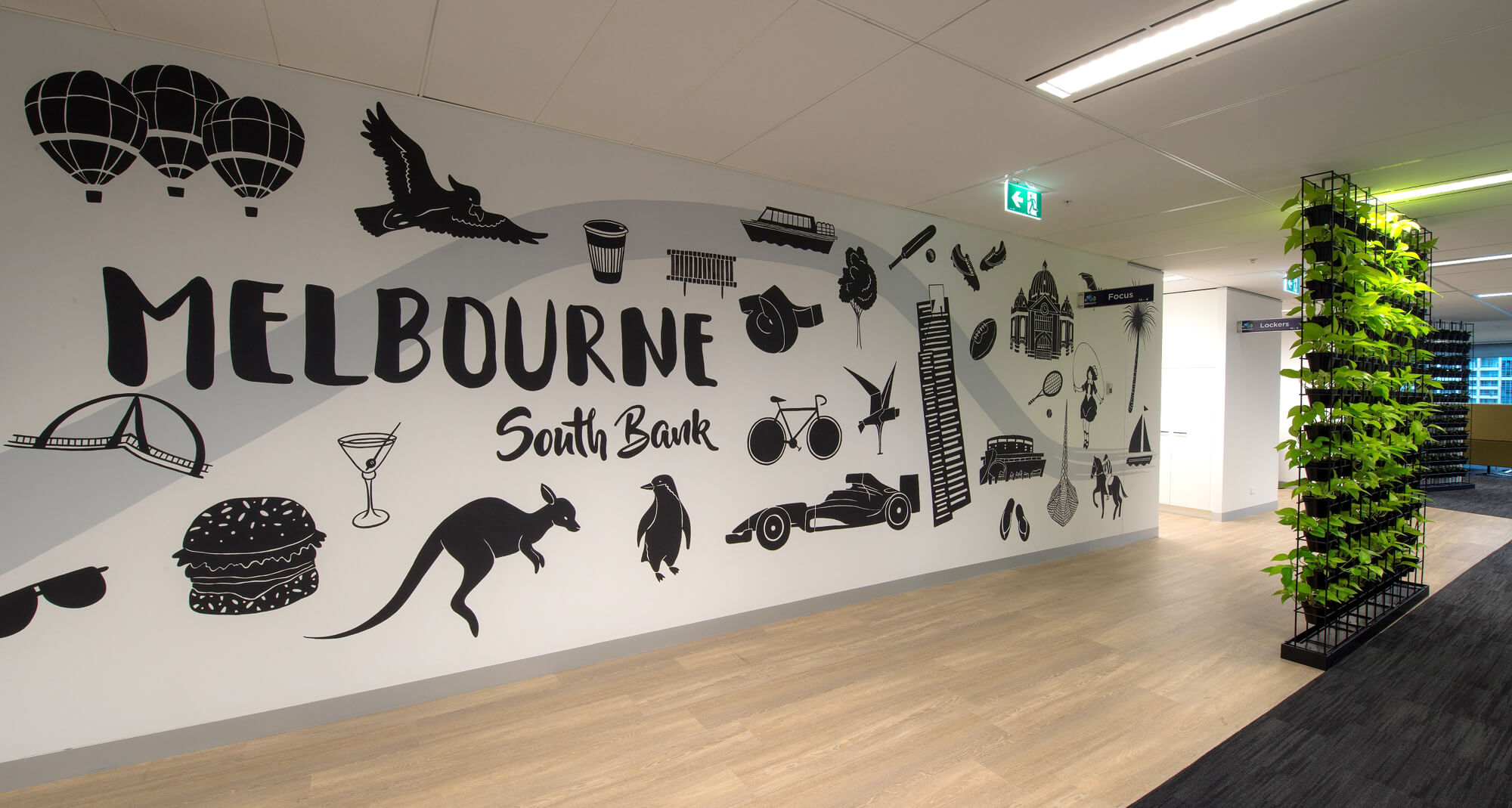 VM Ware office mural, south bank. Photo courtesy of Cube company