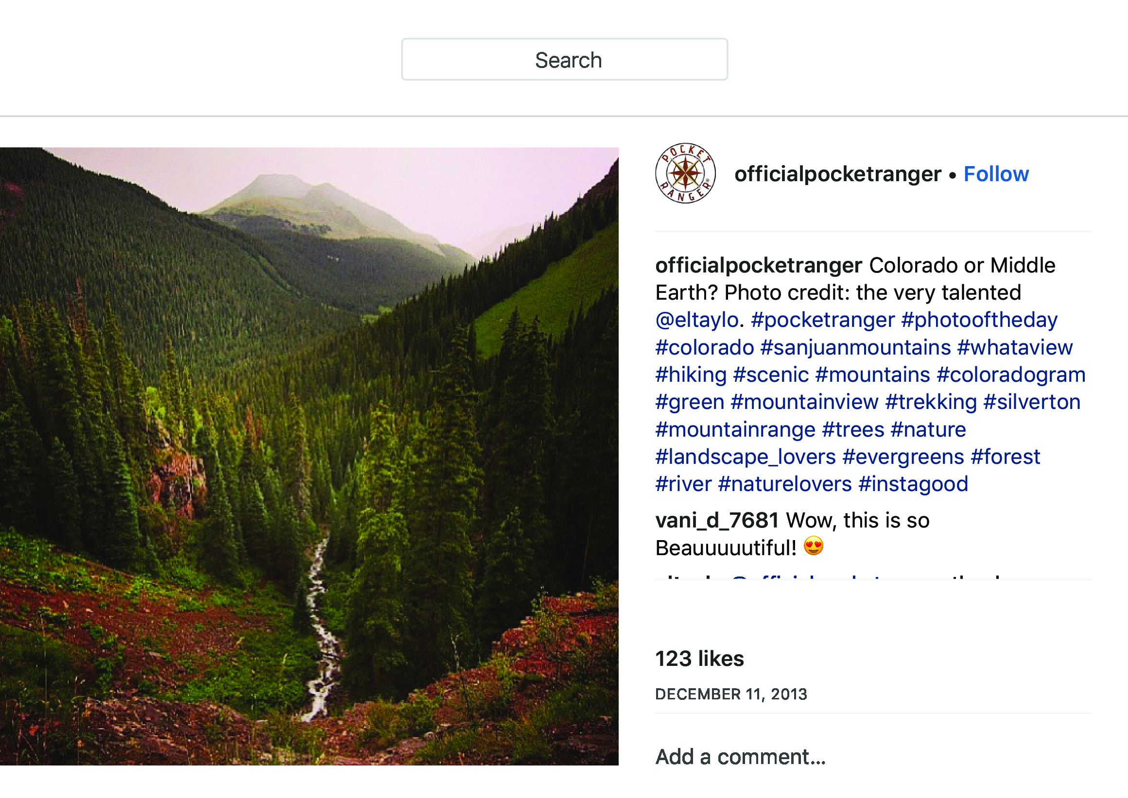 """OfficialPocketRanger on Instagram_ """"Colorado or Middle Earth_ Photo credit_ the very talented @eltaylo. #pocketranger #photooftheday #colorado #sanjuanmountains #whataview…"""" copy.jpg"""