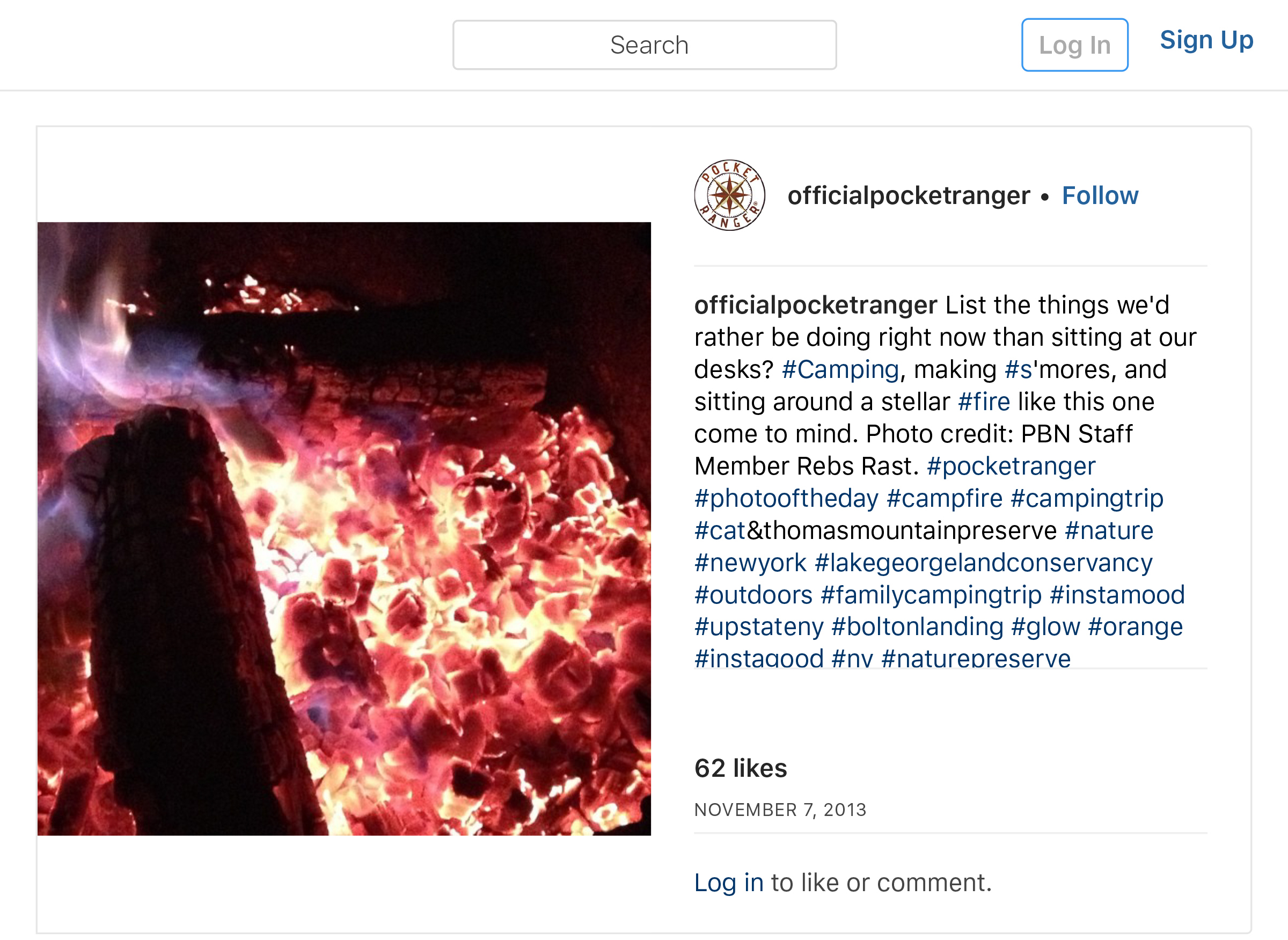 """OfficialPocketRanger on Instagram_ """"List the things we_d rather be doing right now than sitting at our desks_ #Camping, making #s_mores, and sitting around a stellar #fire…"""" copy copy.jpg"""