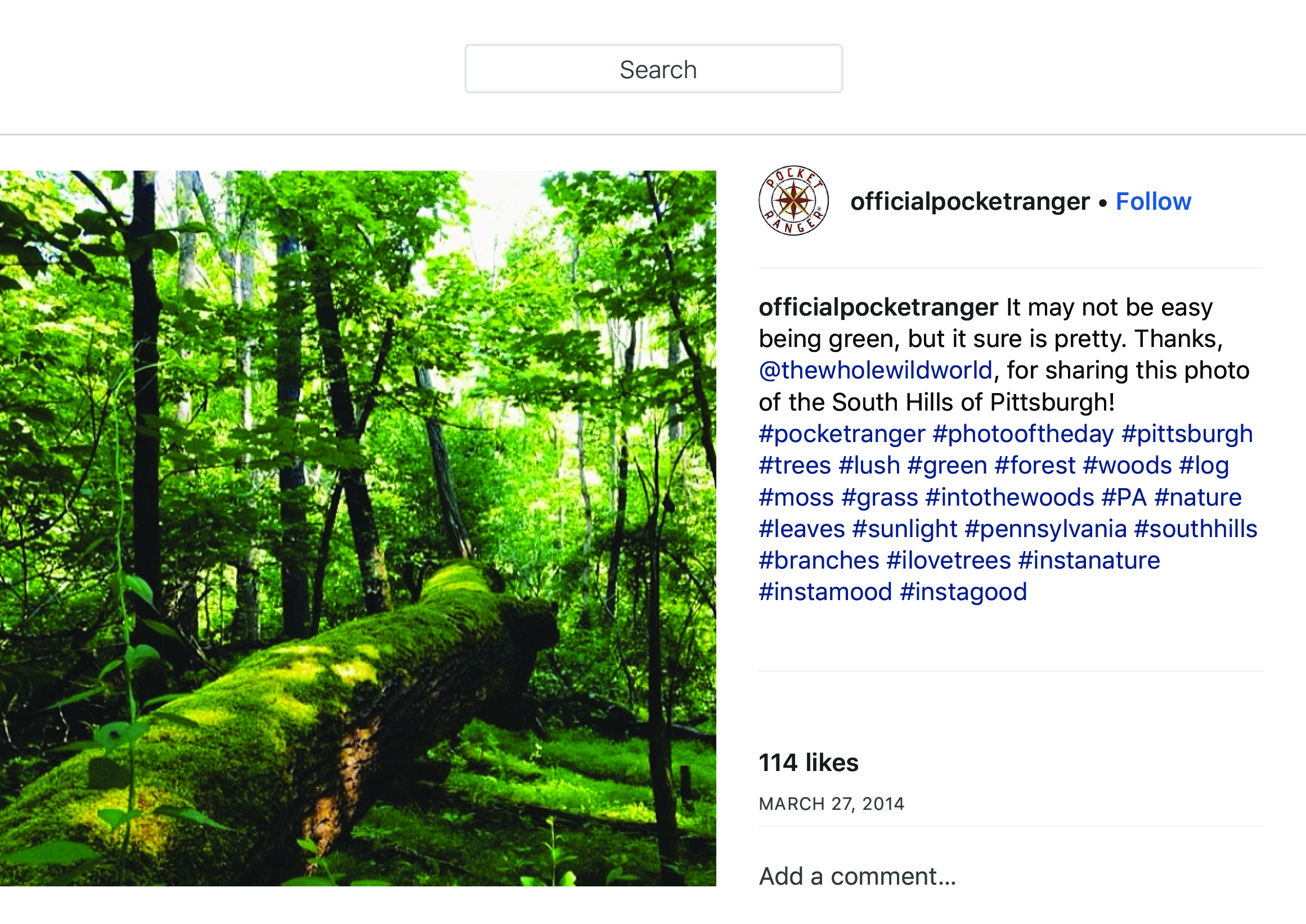 """OfficialPocketRanger on Instagram_ """"It may not be easy being green, but it sure is pretty. Thanks, @thewholewildworld, for sharing this photo of the South Hills of Pittsburgh!…"""" copy.jpg"""