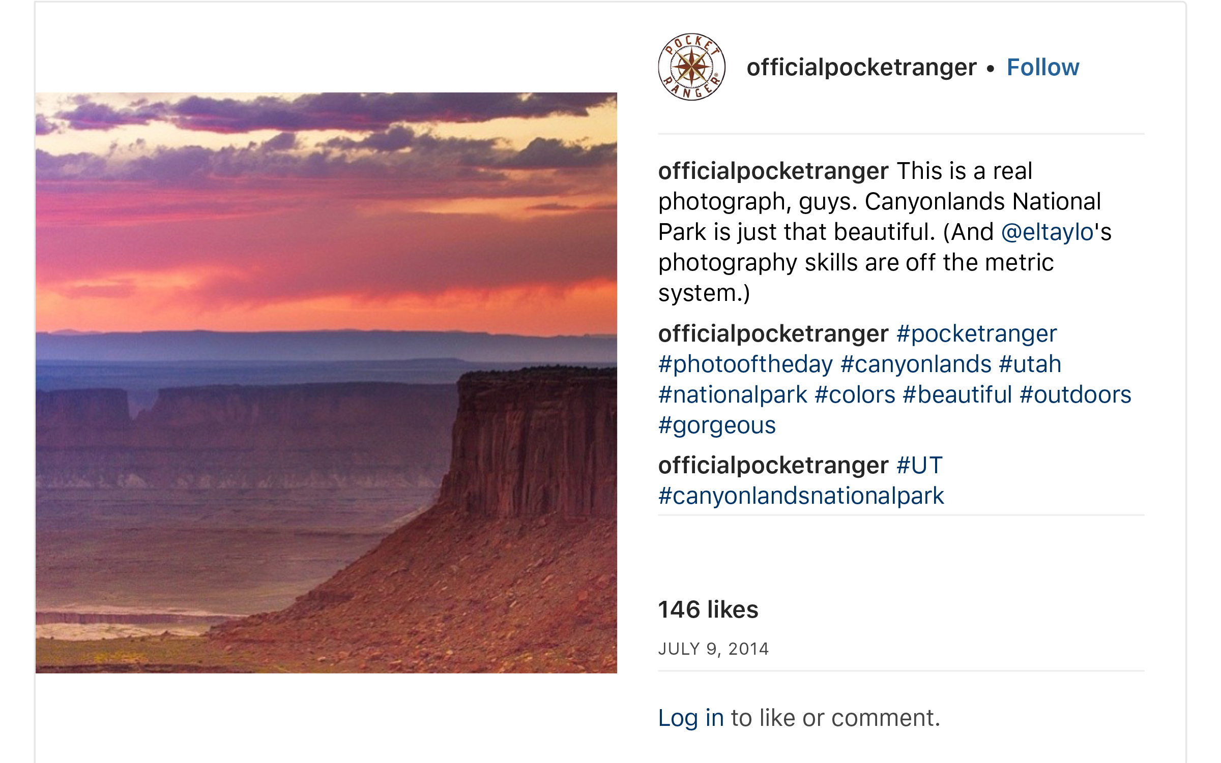 """OfficialPocketRanger on Instagram_ """"This is a real photograph, guys. Canyonlands National Park is just that beautiful. (And @eltaylo_s photography skills are off the metric…"""" copy copy.jpg"""