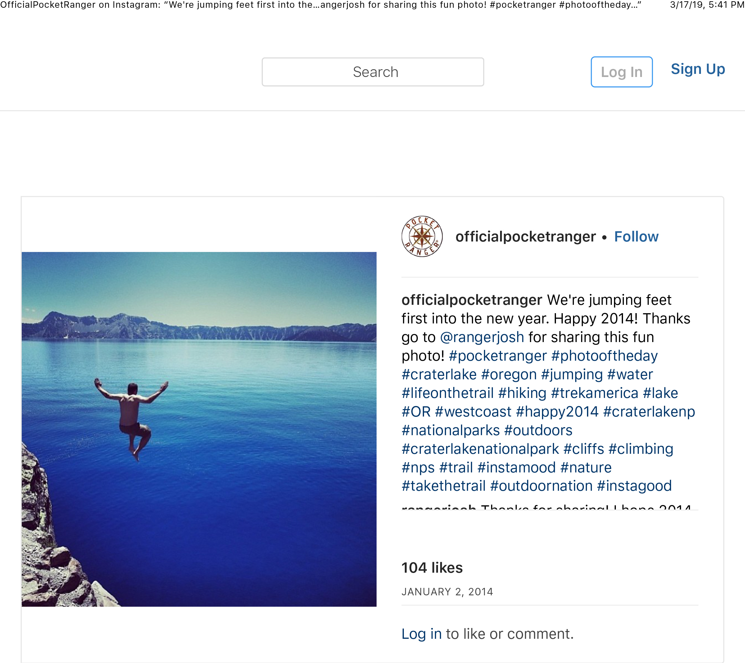 """OfficialPocketRanger on Instagram_ """"We_re jumping feet first into the new year. Happy 2014! Thanks go to @rangerjosh for sharing this fun photo! #pocketranger #photooftheday…"""" copy copy.jpg"""