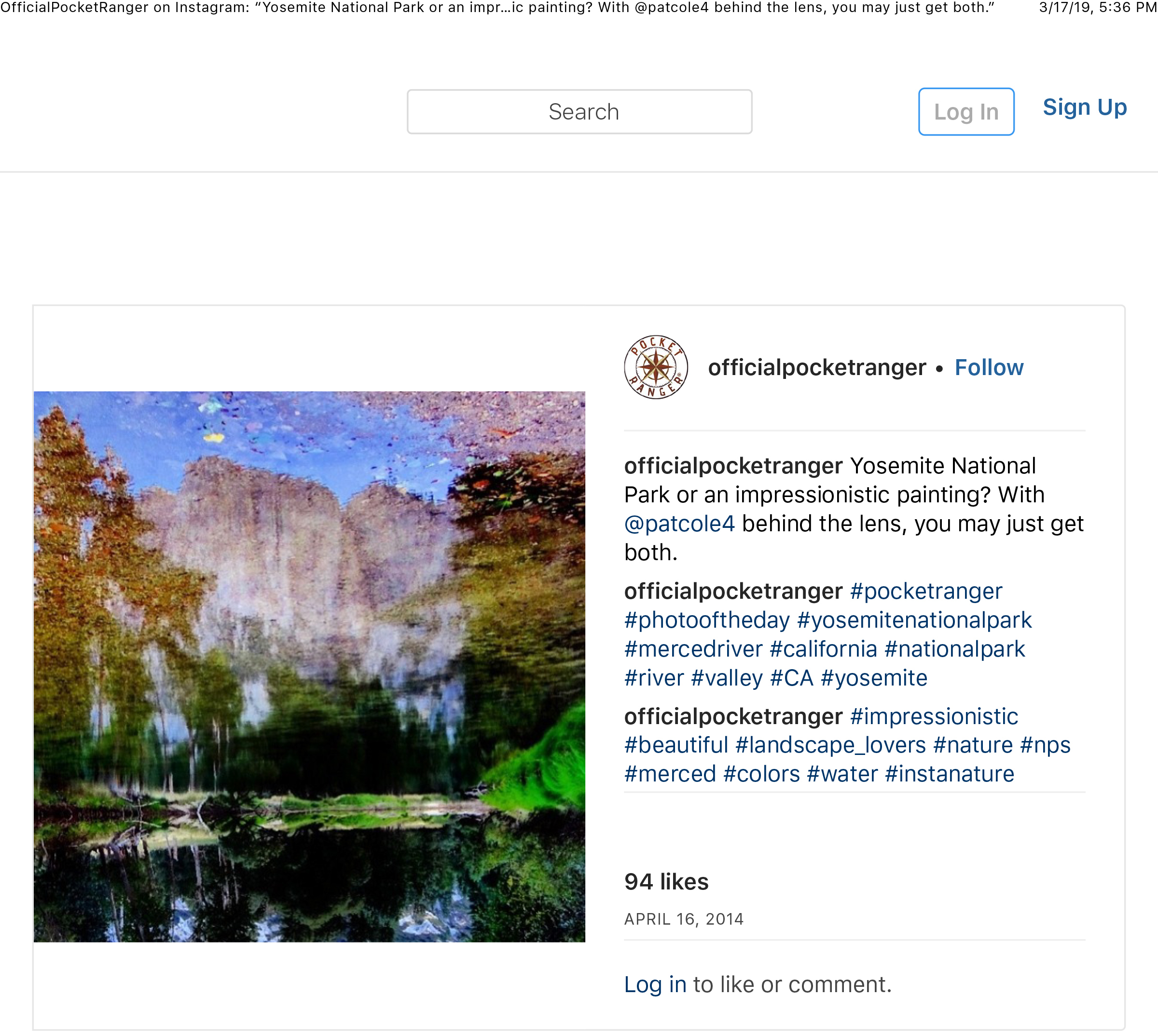"""OfficialPocketRanger on Instagram_ """"Yosemite National Park or an impressionistic painting_ With @patcole4 behind the lens, you may just get both."""" copy.jpg"""