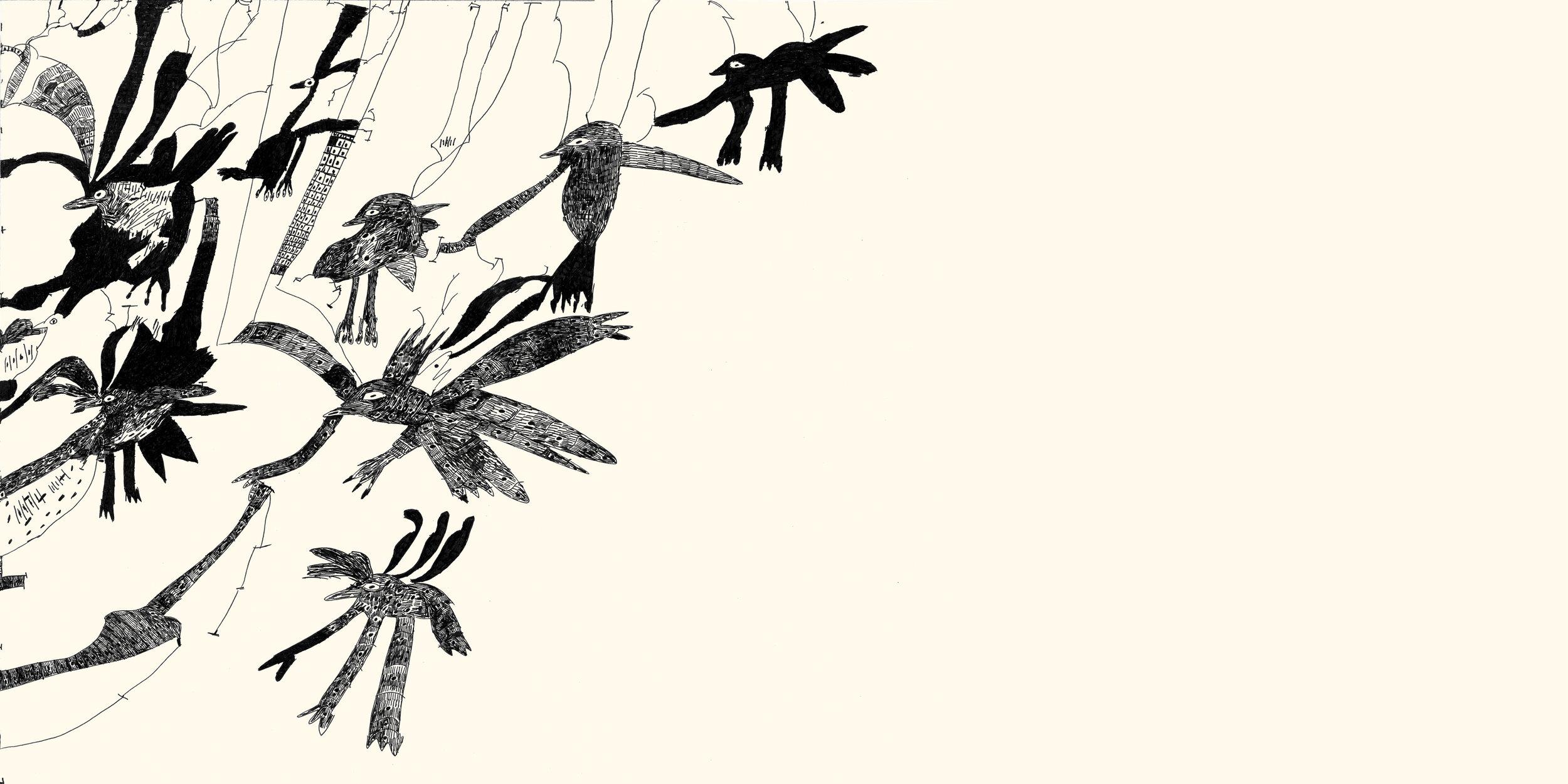 ['Birds' (detail) by Kristy Sweeney]