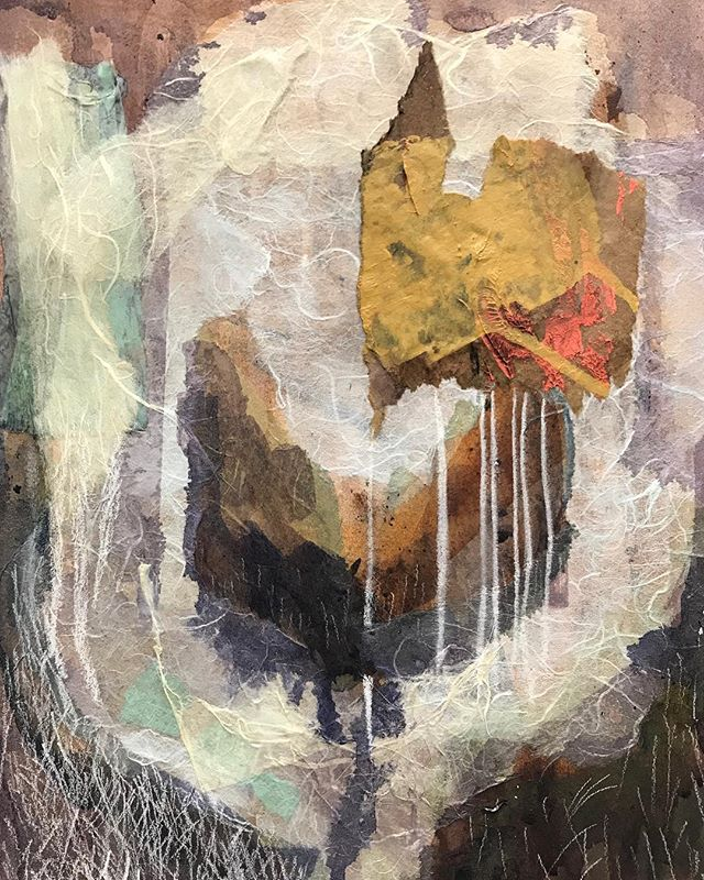 Wish Instagram didn't have to crop this! Oh well #will #workinprogress #collage #mixedmediacollage #mixedmedia #acrylicpainting #abstractpainting #newenglandartist