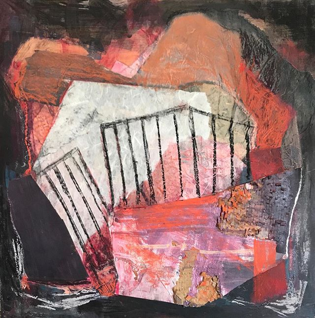 Trying to finish one painting a month. Here is March. #collage #mixedmediapainting #mixedmedia #artrhodeisland #rhodeisland #warrenri #30cutlerstreet #rhodeislandart