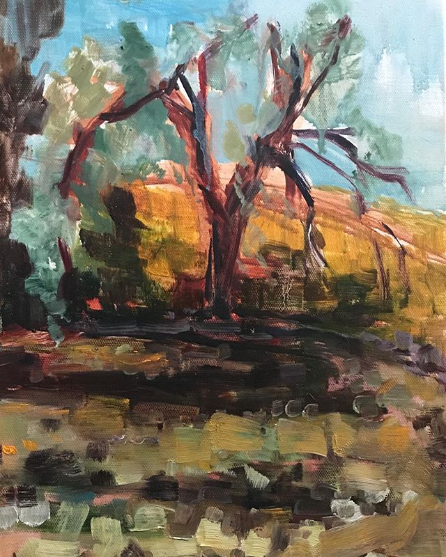 Had the most amazing time this weekend painting with friends! Thanks @claudinemarcel @kimbarry55 @mellissamorrisisawesome! #pleinair #pleinairpainter #abstractpainter #abstractartist #landscapepainter #landscapepainting #treepainting