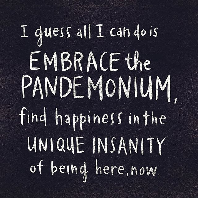 - Eleanor Shellstrop  Saw season 3, ep 12 of The Good Place this week and it nearly wrecked me.  Embrace the pandemonium is a pretty good mantra though.