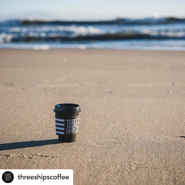 It's cold, but it looks like our friends down at the beach are making the most of it. Photo from @threeshipscoffee