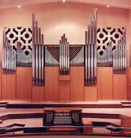 Current Organ, made by Rodgers Instrument Corporation of Hillsboro, Oregon
